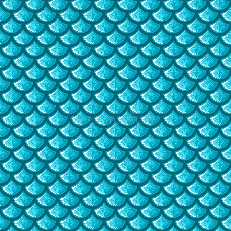De naadloze blauwe schalen van riviervissen royalty-vrije illustratie