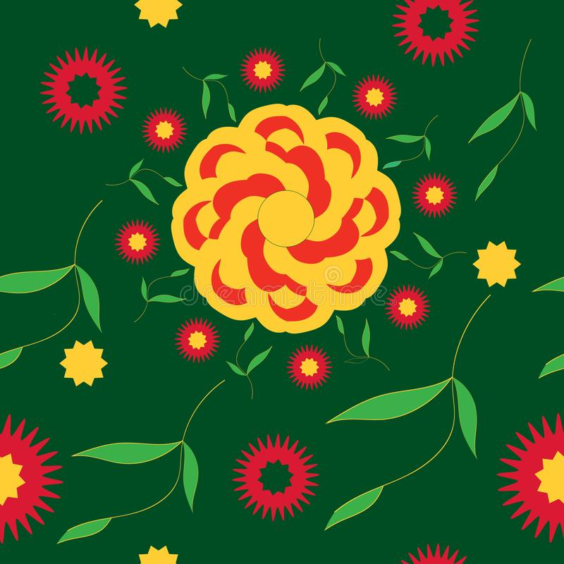 De naadloze bloem van de patroon heldere zomer vector illustratie
