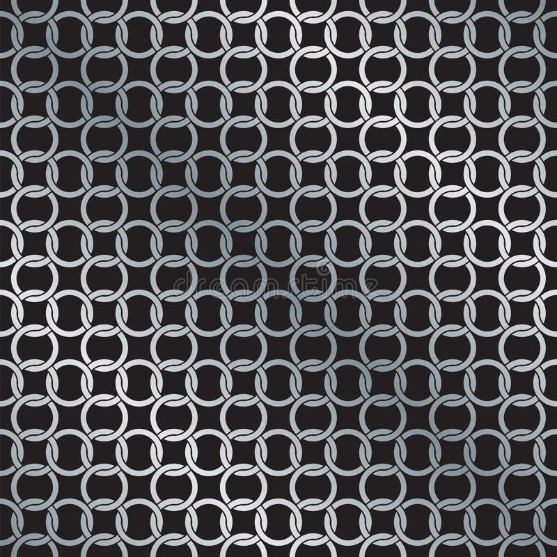 De naadloze Cirkelketen verbindt Patroon Achtergrondtextuur onderling vector illustratie