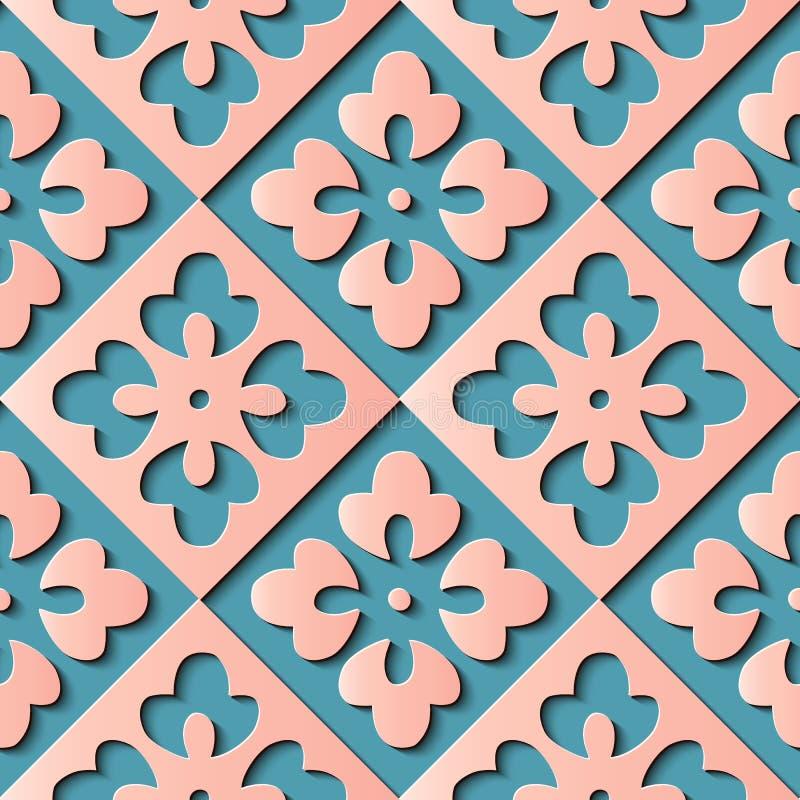 De naadloze controle van het de decoratie retro patroon van het hulpbeeldhouwwerk geometr stock illustratie