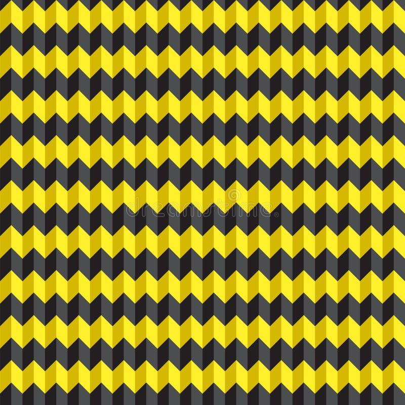 De naadloze 3d textuur van het chevronpatroon met hoogtepunten en schaduwen vector illustratie