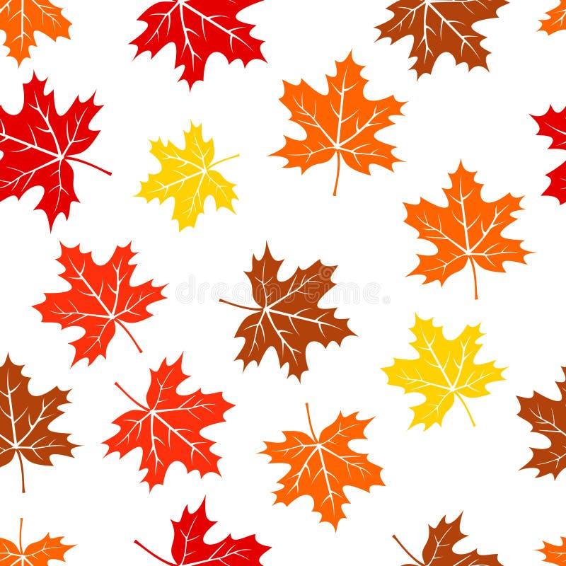 De naadloze de herfstesdoorn verlaat patroon vector illustratie