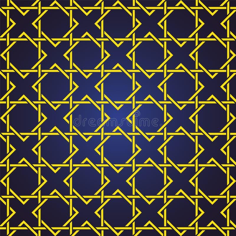 De naadloze en abstracte patroonachtergrond in Arabische stijl, kan voor het ramadan kareem en eid onderwerp van Mubarak gebruike stock illustratie