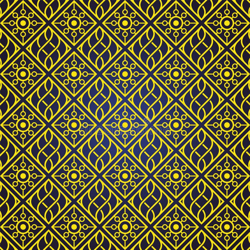 De naadloze en abstracte patroonachtergrond in Arabische stijl, kan voor het ramadan kareem en eid onderwerp van Mubarak gebruike royalty-vrije illustratie