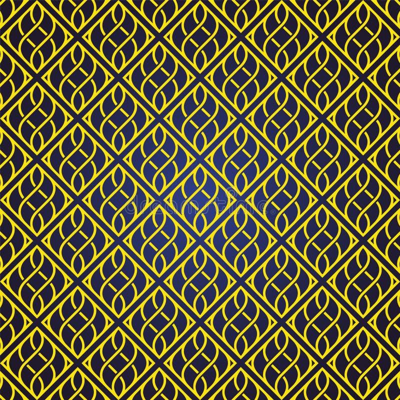 De naadloze en abstracte patroonachtergrond in Arabische stijl, kan voor het ramadan kareem en eid onderwerp van Mubarak gebruike vector illustratie