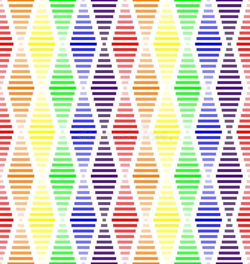 De naadloze geometrische patroon vector achtergrond kleurrijke die ontwerpkunst met regenboog kleurt diamant kijkend vormen van r vector illustratie