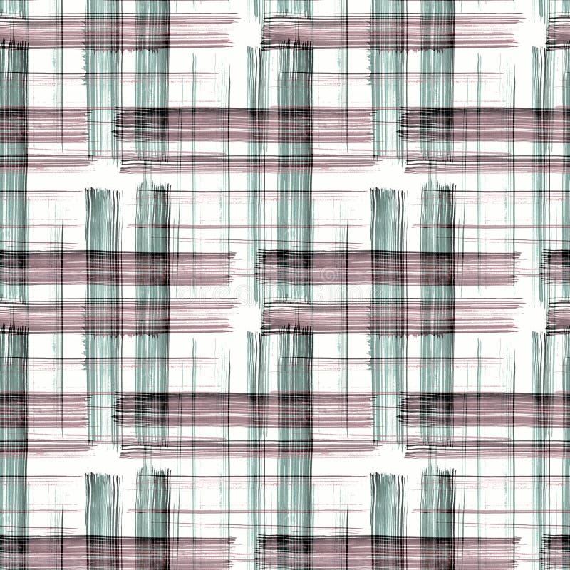 De naadloze geruite witte achtergrond van de geruit Schots wollen stofplaid vector illustratie