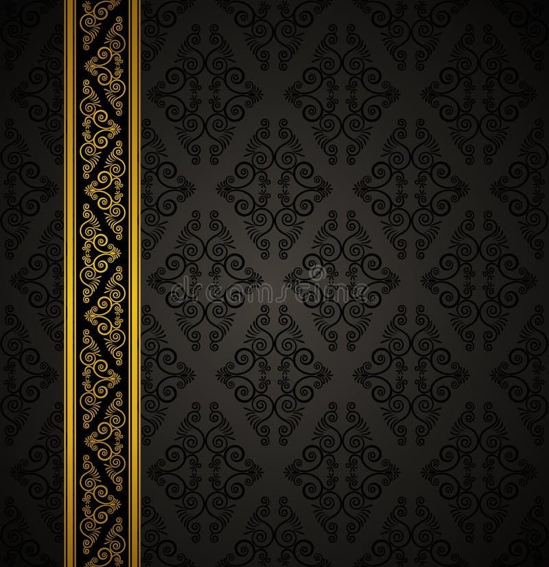 De naadloze gotische achtergrond van de luxe. stock illustratie