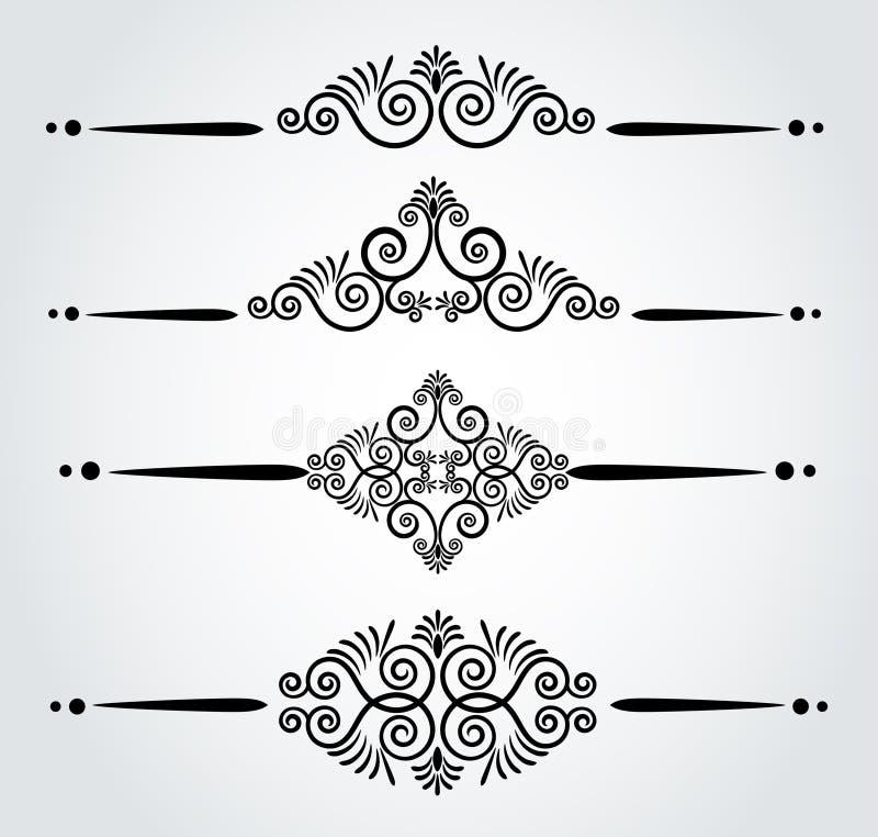 De naadloze gotische achtergrond van de luxe stock illustratie