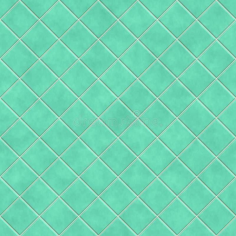 De naadloze groene achtergrond van de tegelstextuur royalty-vrije illustratie