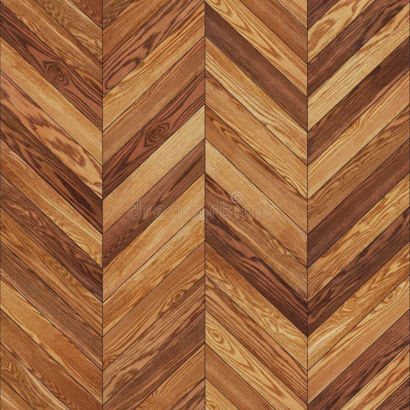 De naadloze houten bruine chevron van de parkettextuur stock fotografie