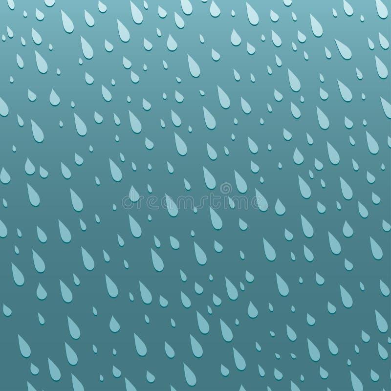 De naadloze kleurrijke regen laat vallen de regendruppel abstracte illustratie patroon van de achtergrond vectorwater blauwe aard vector illustratie