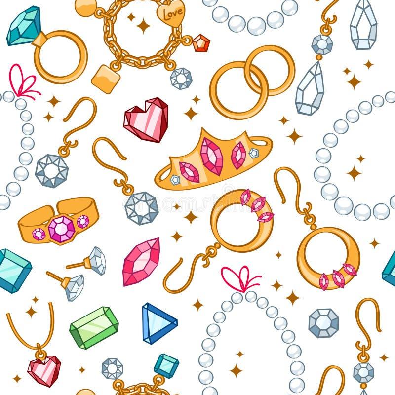 De naadloze lichte achtergrond van juwelenpunten stock illustratie