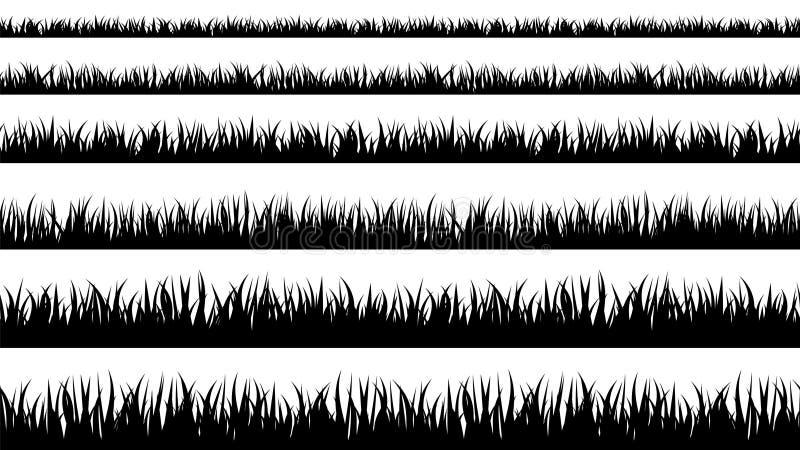 De naadloze lijnen van het grassilhouet stock illustratie