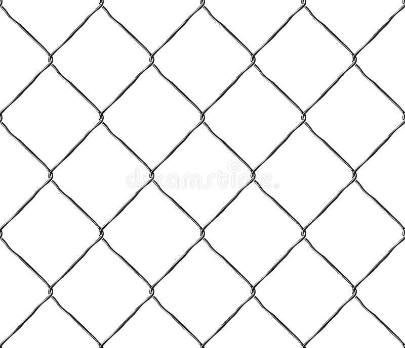 De naadloze omheining van het het netwerkstaal van het textuurmetaal vector illustratie