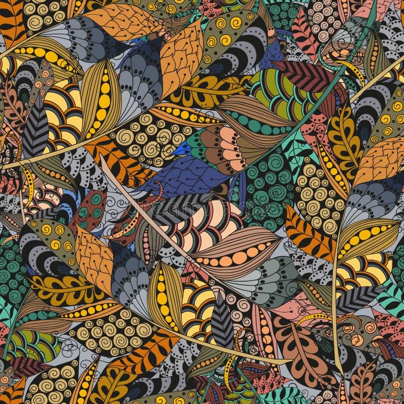 De naadloze ornamenten van de patroon abstracte golf royalty-vrije illustratie