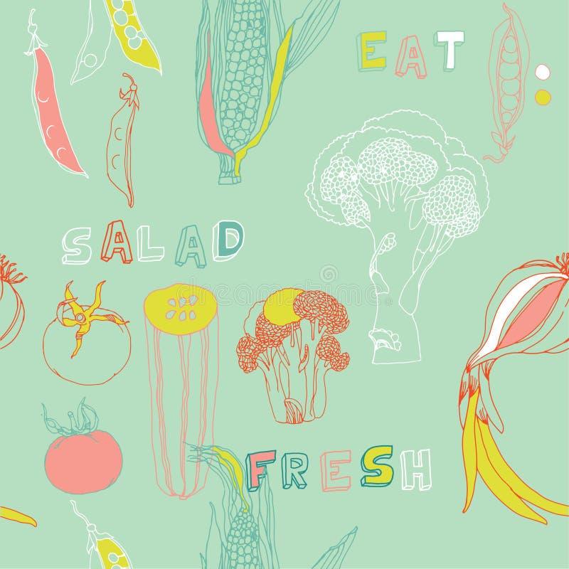 De naadloze pa van groenten stock illustratie