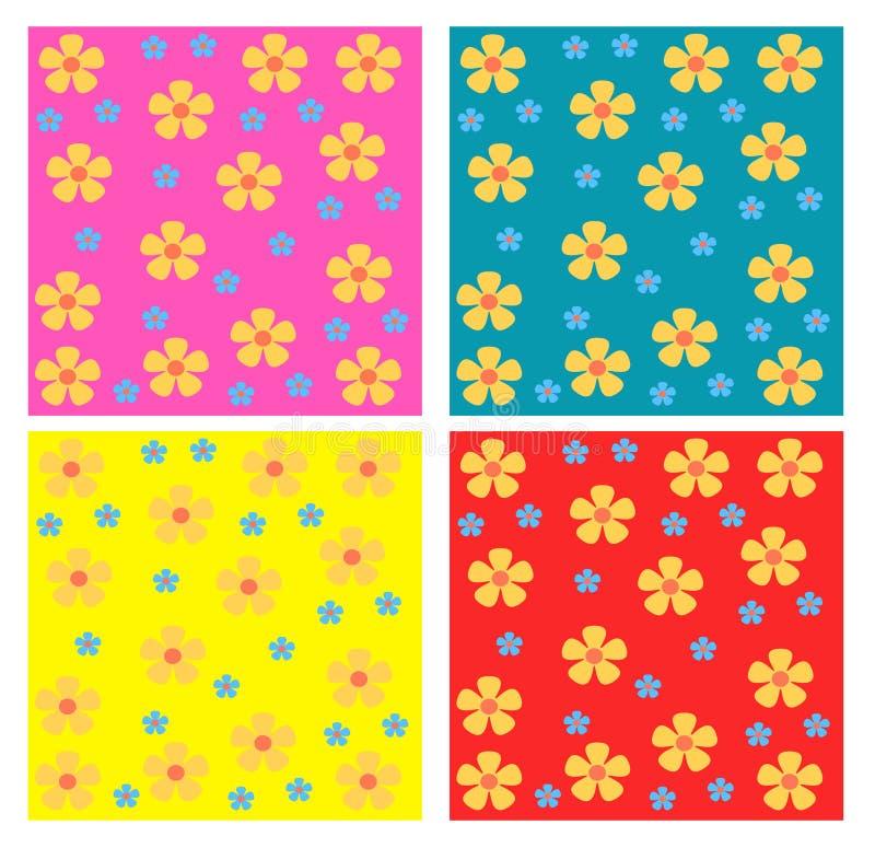 De naadloze patronen van bloemen vector illustratie