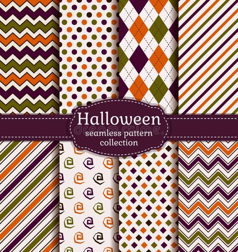 De naadloze patronen van Halloween Beeldverhaal polair met harten stock illustratie