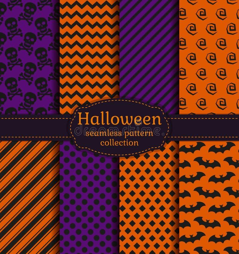 De naadloze patronen van Halloween Beeldverhaal polair met harten