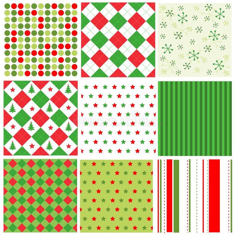 De naadloze patronen van Kerstmis royalty-vrije illustratie