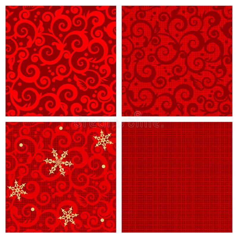 De naadloze patronen van Kerstmis vector illustratie