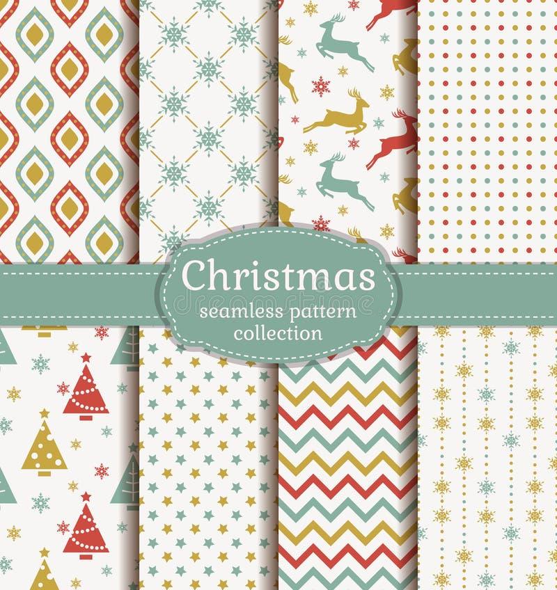 De naadloze patronen van Kerstmis Beeldverhaal polair met harten