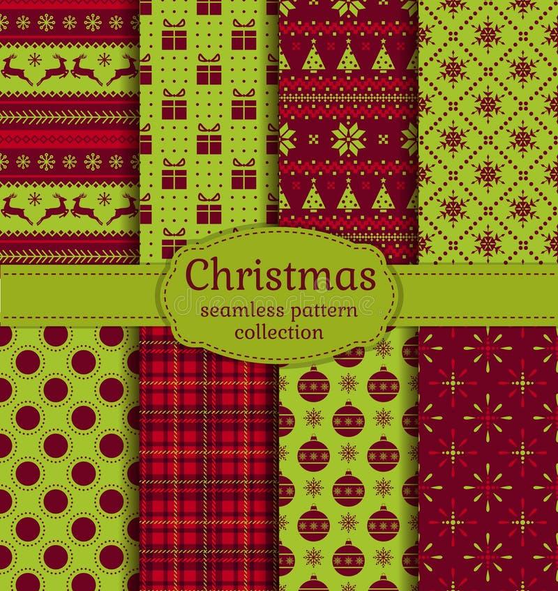 De naadloze patronen van Kerstmis Beeldverhaal polair met harten vector illustratie