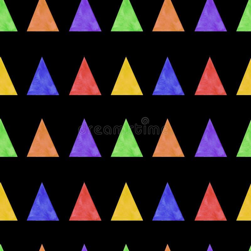 De naadloze patroondriehoeken vatten de illustratie van de achtergrond patroonwaterverf texturen digitaal document textielbehang  vector illustratie