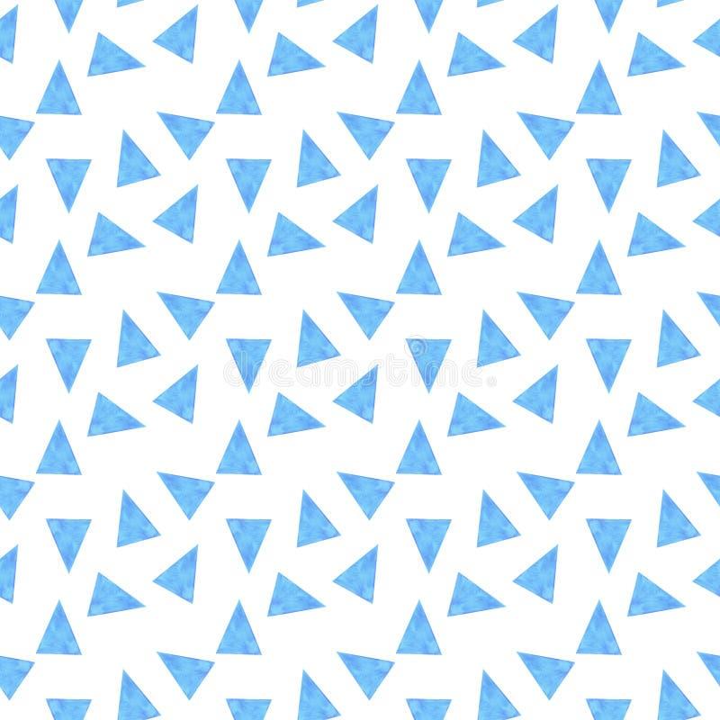 De naadloze patroondriehoeken vatten de illustratie van de achtergrond patroonwaterverf texturen digitaal document textielbehang  stock illustratie