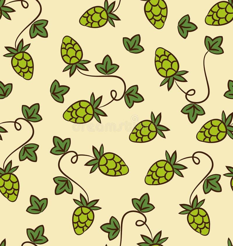 De naadloze Plannen van de Patroonhop voor Bier stock illustratie