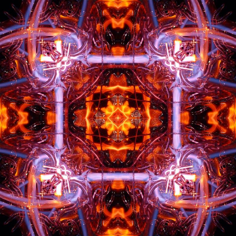 De naadloze symmetrische textuur van de patroon abstracte kleurrijke lichte strook royalty-vrije illustratie