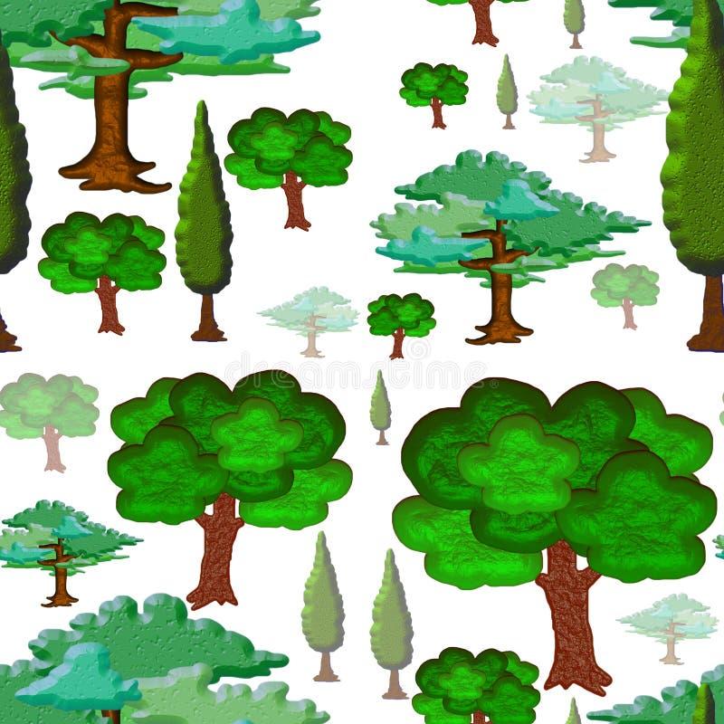De Naadloze Tegel van bomen royalty-vrije illustratie