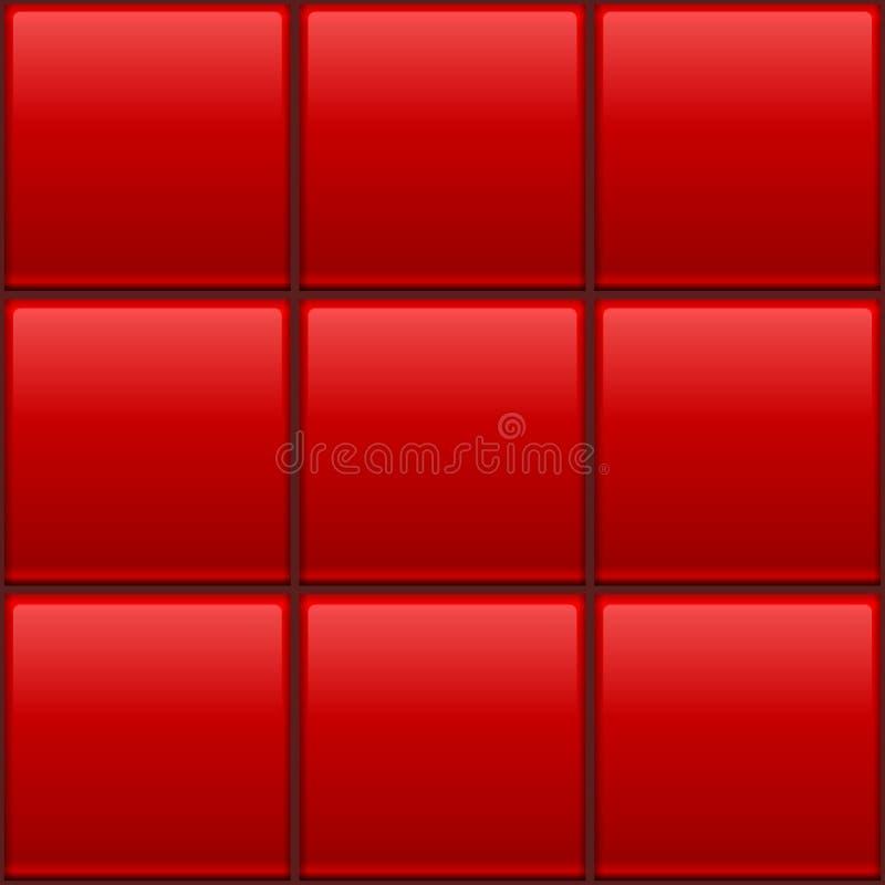 De naadloze tegels van de kleurenmuur stock illustratie