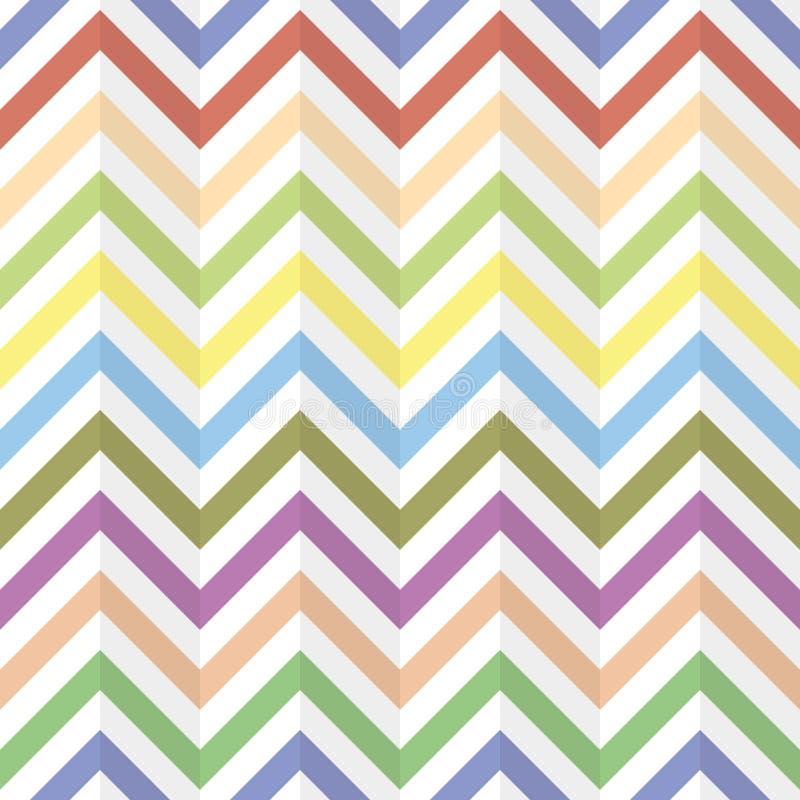 De naadloze textuur van de chevronzigzag stock illustratie