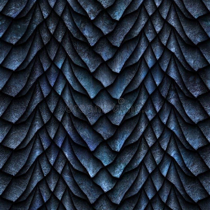 De naadloze textuur van draakschalen stock illustratie
