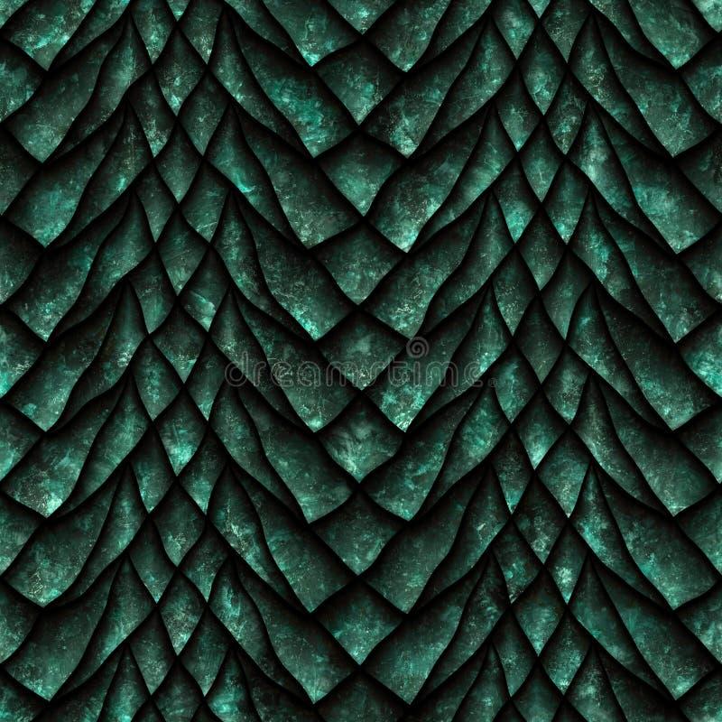 De naadloze textuur van draakschalen vector illustratie