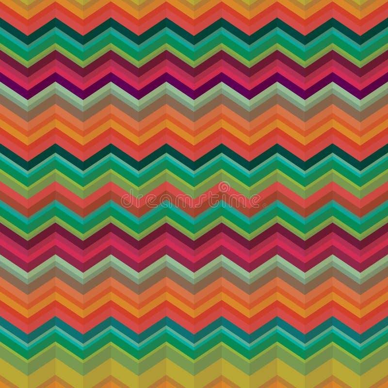 De naadloze textuur van het chevronpatroon - Illustratie vector illustratie