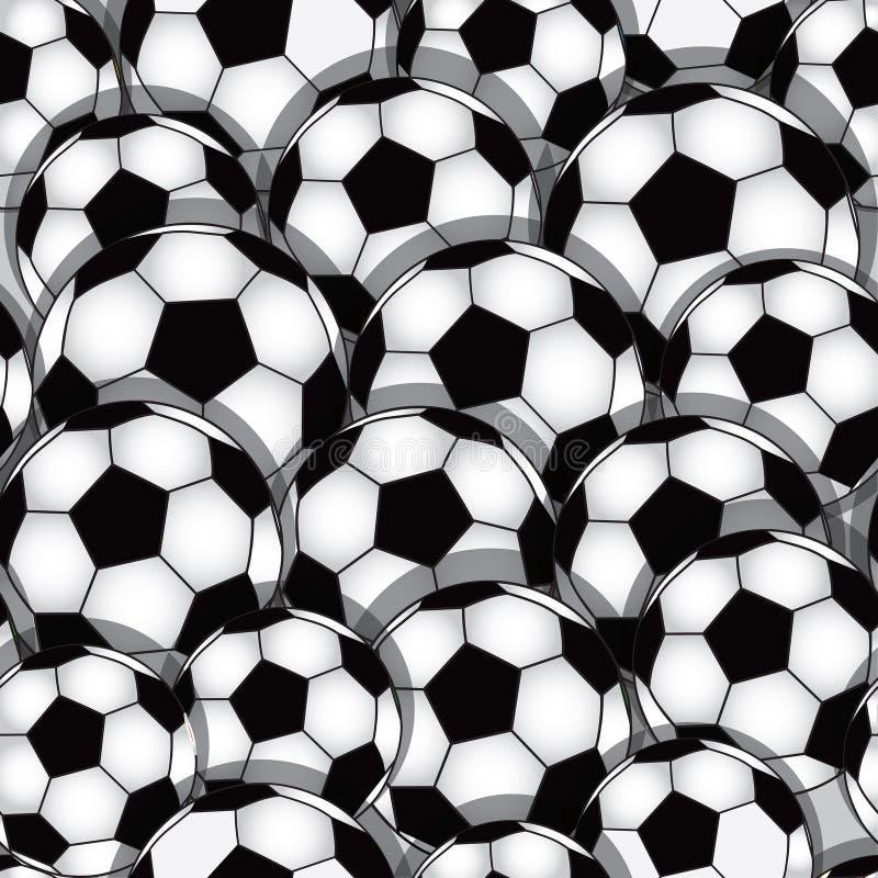De naadloze textuur van het voetbal royalty-vrije illustratie