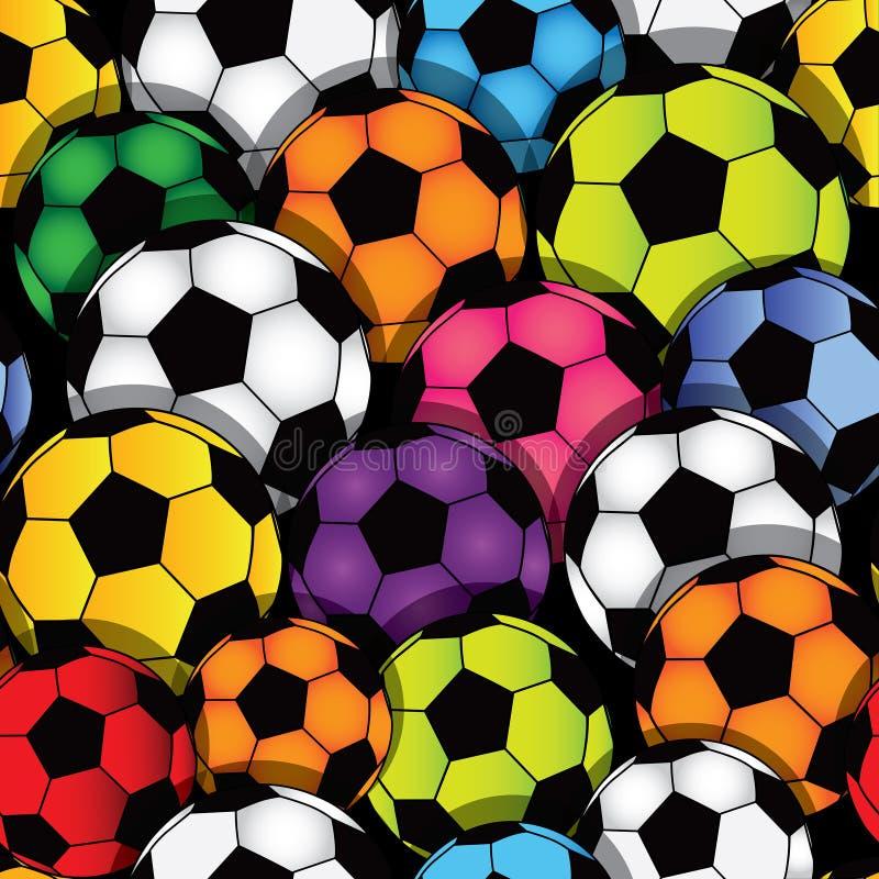 De naadloze textuur van het voetbal vector illustratie
