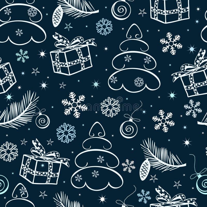 De naadloze vector abstracte achtergrond van Kerstmis vector illustratie