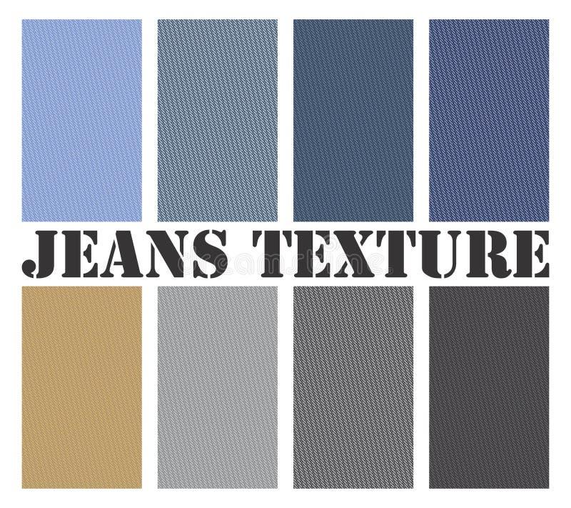 De Naadloze Vector van de Textuur van jeans stock afbeeldingen