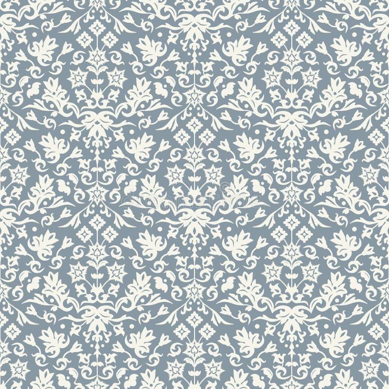 De naadloze vector van het damastpatroon vector illustratie