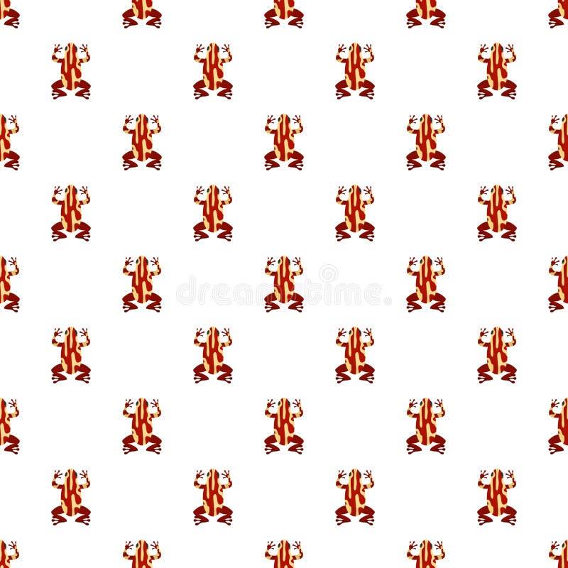 De naadloze vector van het kikkerpatroon stock illustratie