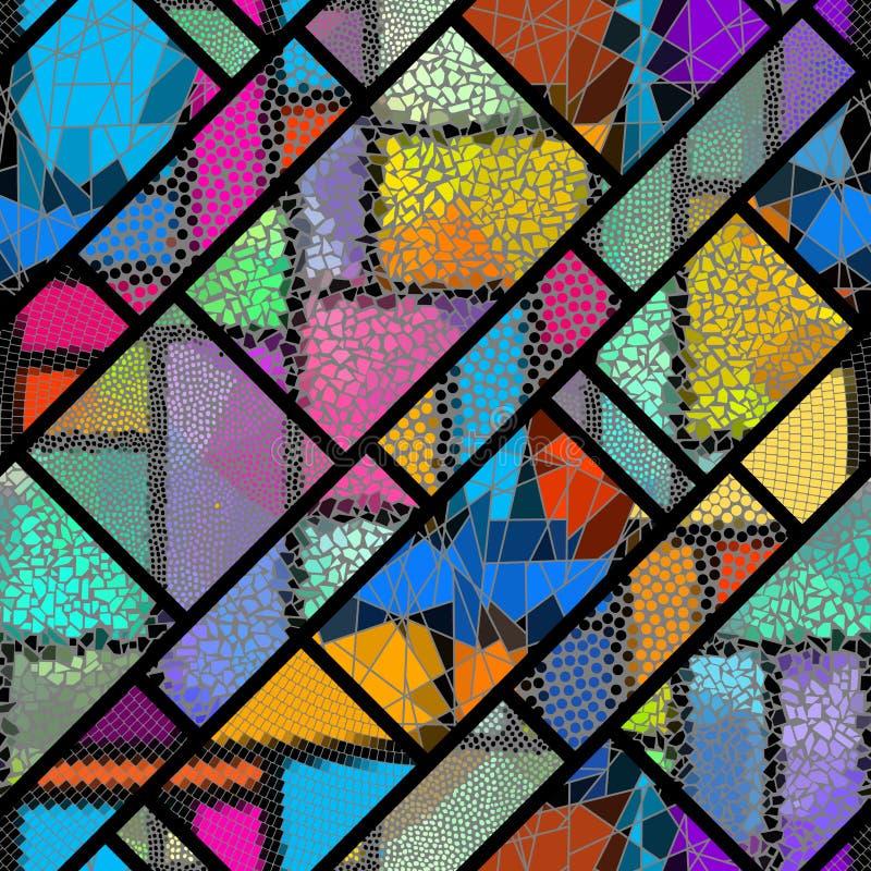 De naadloze Vectorillustratie van het mozaïekpatroon royalty-vrije illustratie