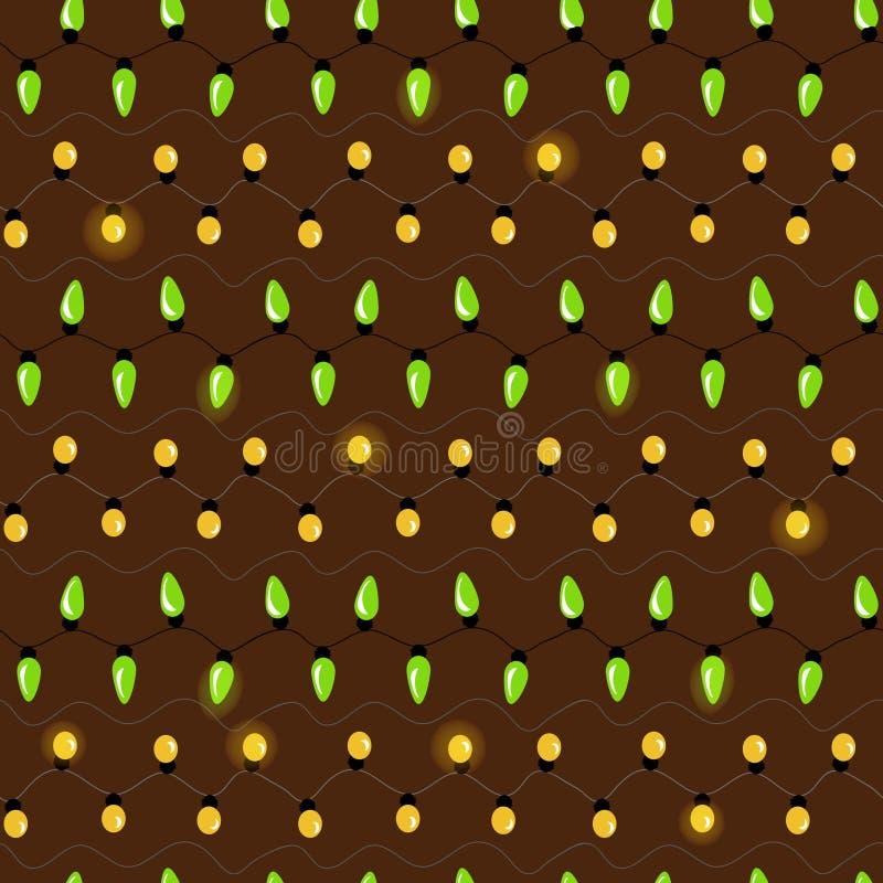 De naadloze vectorkerstmisfee steekt patroon aan vector illustratie