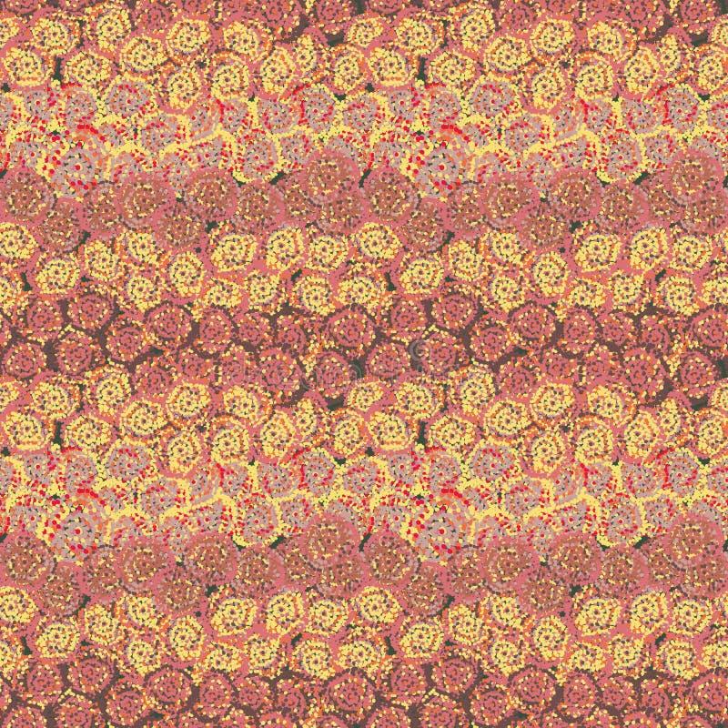 De naadloze vectorpatroon abstracte achtergrond die met gespikkeld wordt gecreeerd nam toe als vormen royalty-vrije illustratie