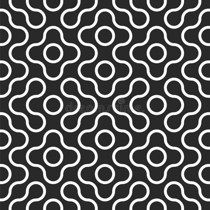 De naadloze verwarde achtergrond van het labyrintpatroon vector illustratie