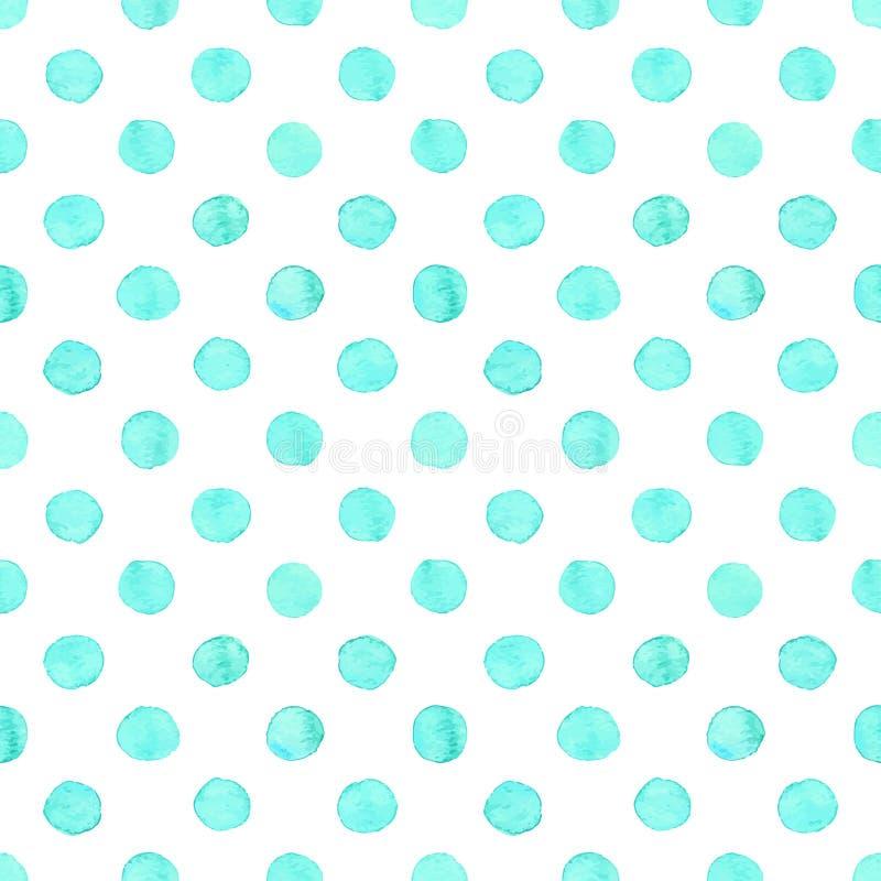 De naadloze waterverf stippelt patroon vector illustratie