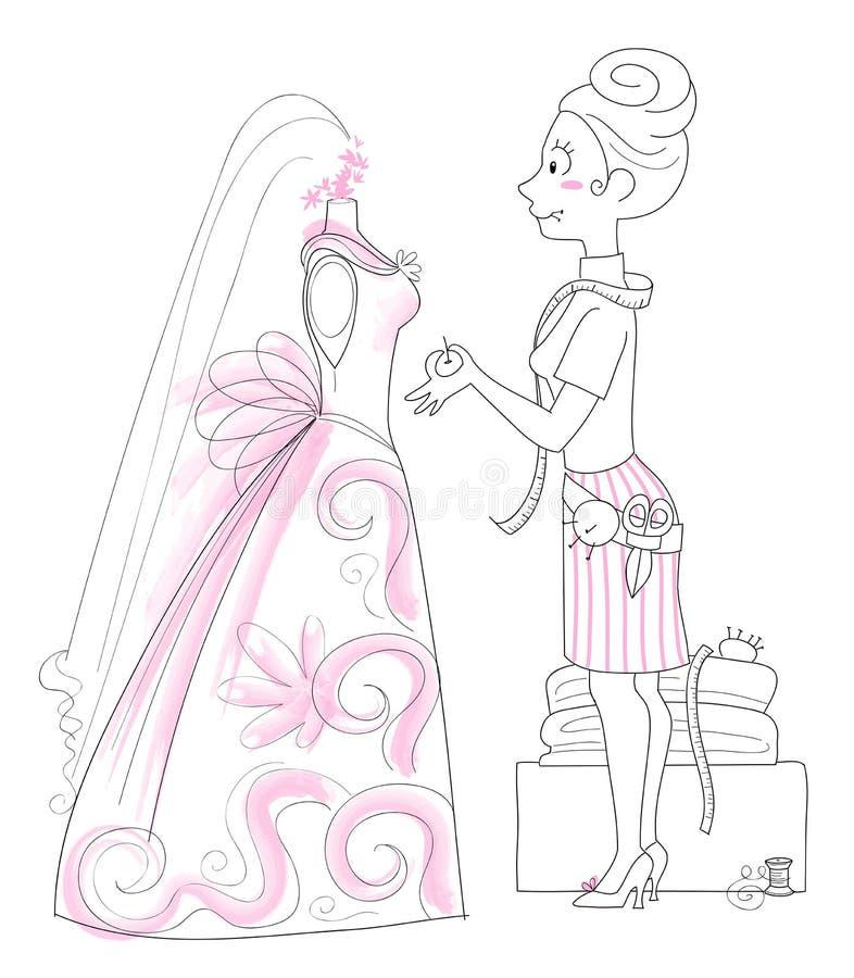 De Naaister van het huwelijk stock illustratie